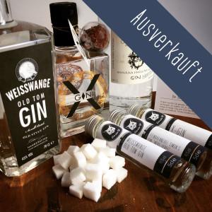"""Die Gebrüder Gin Gin-Box""""Die süße Gin Versuchung"""" mit X-Gin, Simon's next level Gin und Weisswange Old Tom Gin. AUSVERKAUFT"""
