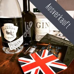 "Die Gebrüder Gin Gin-Box""Dreimal London Dry Gin"" mit East London Liquor Company, Hoos und Feiner Kappler."