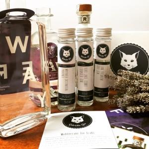 """Gebrüder Gin Tasting Box """"Mediterrane Gin Grüße"""" im Gin-Abo mit RIVO, Wayfarer und LAW"""